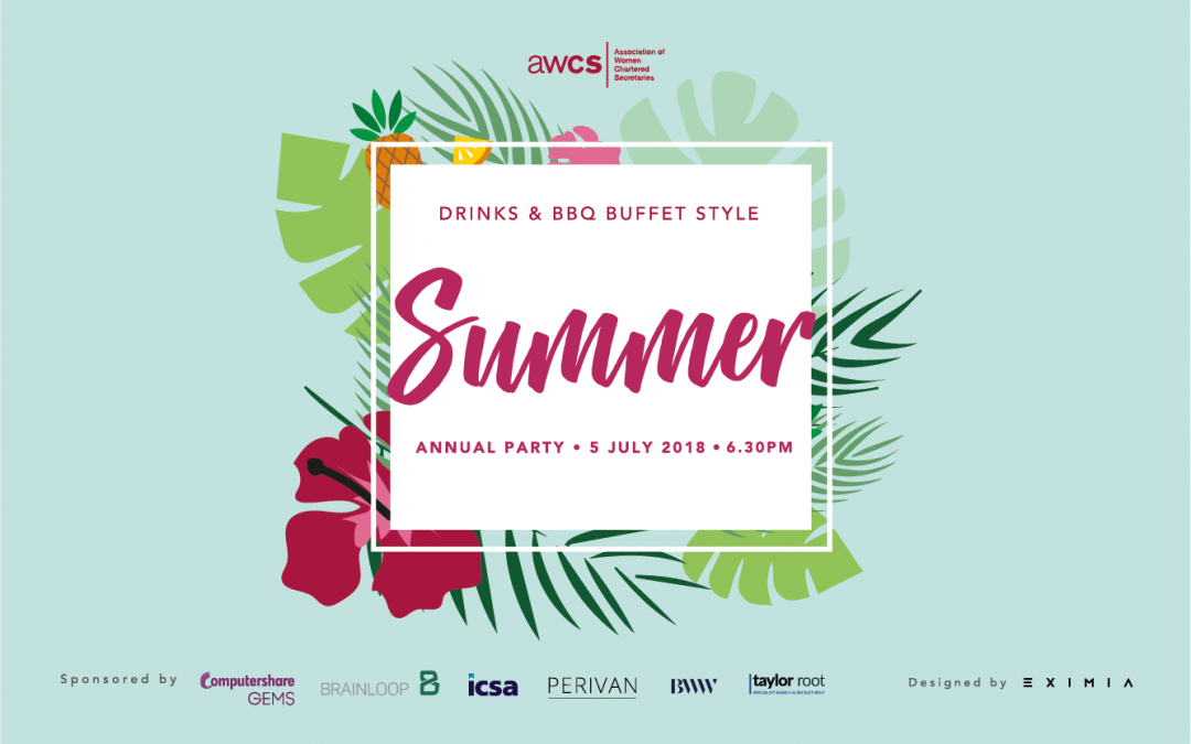 AWCS Summer Party – 5 July 2018